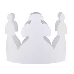 White Crowns Pack Of 24 By Hygloss Products