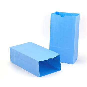 Colored Craft Bags Sky Blue By Hygloss Products
