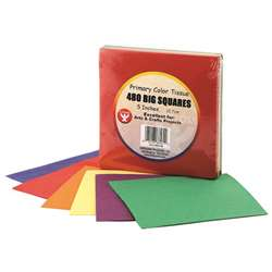 Tissue Paper 480 Squares Primary Colors By Hygloss Products