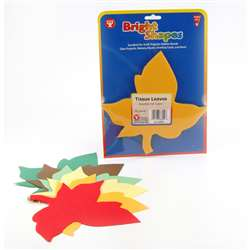 Tissue Shapes 180 Of 6 Leaves In Fall Colors By Hygloss Products