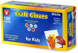 Colored Craft Gloves Kids Size, HYG98100