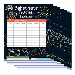 Substitute Folder Elem Kid 24-Pk 9 X 11 W/ Pocket By Carson Dellosa