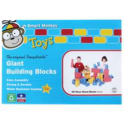 Imagibricks Giant Building 40Pc Set Block Set By Smart Monkey