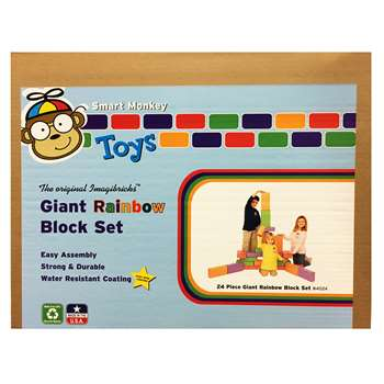 Imagibricks Rainbow Blocks 24 Pc Set By Smart Monkey