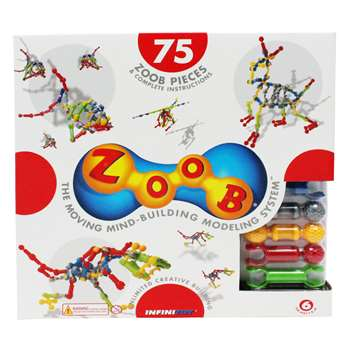 Zoob Construction Set 75 Pieces By Infinitoy