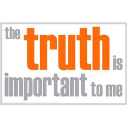 The Truth Is Important Poster, ISM0011P