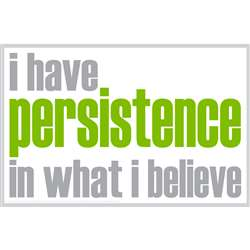 I Have Persistence Poster, ISM0020P