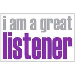 I Am A Great Listener Poster, ISM0023P