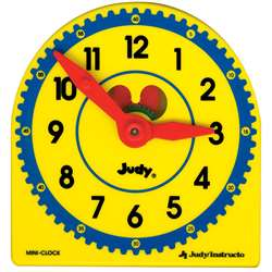 Judy Plastic Clock Class Pk 6-Pk 5 X 5 By Frank Schaffer Publications