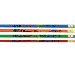 Pencils Happy Birthday 12/Pk By Jr Moon Pencil