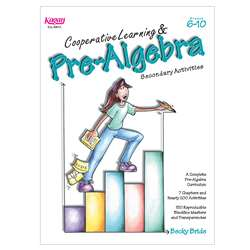 Cooperative Learning & Pre Algebra Gr 6-12 By Kagan Publishing