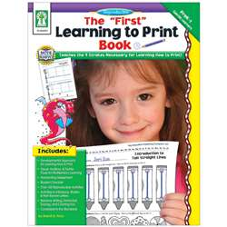 The First Learning To Print Book Gr Gr Pk-K By Carson Dellosa