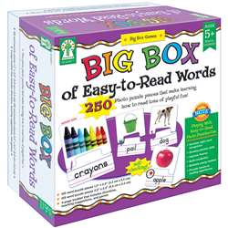 Big Box Of Easy To Read Words Game Age 5+ By Carson Dellosa