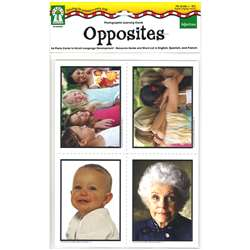 Photographic Learning Cards Adjectives Opposites By Carson Dellosa