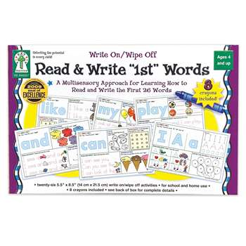 Write On/Wipe Off Read & Write 1St First Words Ages 4+ By Carson Dellosa