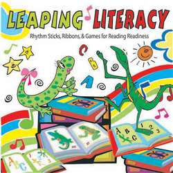 Leaping Literacy Rhythm Sticks Ribbons & Games Cd By Kimbo Educational
