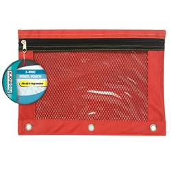 3 Ring Pencil Pouch W Mesh 10X75, KITPP20P4510224