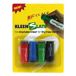Attachable Erasers For Dry Erase Markers 4/Pk By Kleenslate Concepts
