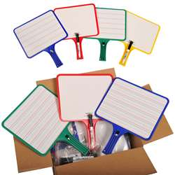 Kleenslate Dry Erase Paddles 12Pk Rectangular Classroom Set By Kleenslate Concepts