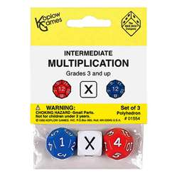 Intermediate Multiplication Dice 3Pk By Koplow Games