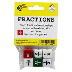 Fraction Dice Set Of 6 By Koplow Games