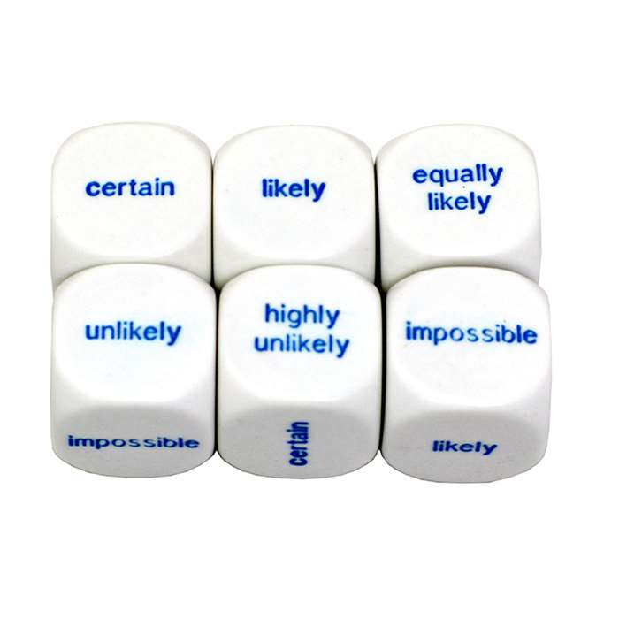Probability Dice Set Of 6 By Koplow Games