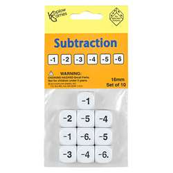Subtraction Dice Set Of 10, KOP18207