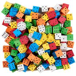 16Mm Color Spot Foam Dice 200 Count Assorted, KOP18920