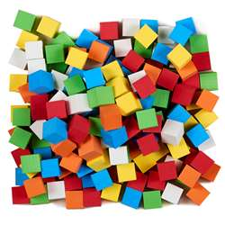 16Mm Blank Color Foam Dice 200 Ct Assorted, KOP18922