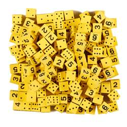 "5/8"" Yellow Foam Dice with Spots/Num, KOP18924"