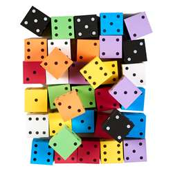 "Asst 2"" Foam Spot Dice Bag Of 36, KOP18930"