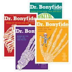 206 Bones Of The Human Body 4 Book Set Dr Bonyfide, KWYDRB4BB