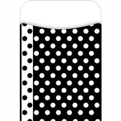 Library Pockets Black & White Dots Pick A Pocket By Barker Creek Lasting Lessons