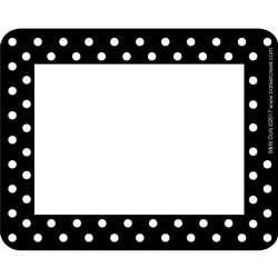 Remember Me. Name Tags Black Dots By Barker Creek Lasting Lessons