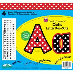 Dots Letter Pop-Outs By Barker Creek Lasting Lessons