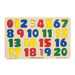 Jumbo Size Wood Puzzle Numbers 0-20 By Melissa & Doug