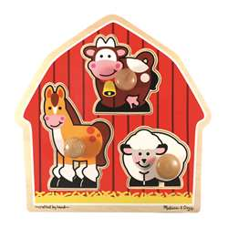 Barnyard Animals Jumbo Knob Puzzle By Melissa & Doug