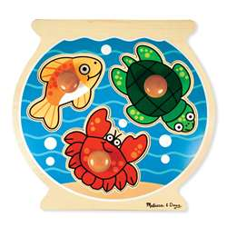 Fish Bowl Jumbo Knob Puzzle By Melissa & Doug