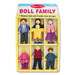 Shop Wooden Family Doll Set - Lci2464 By Melissa & Doug