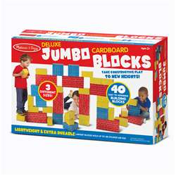 Deluxe Jumbo Cardboard Blocks 40 Pc By Melissa & Doug