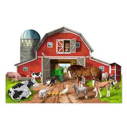 Busy Barn Shaped Floor Puzzle 32 Pc By Melissa & Doug