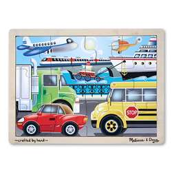 Wooden Jigsaw Puzzle Transportation By Melissa & Doug