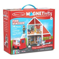 Building Play St Fire Station Magnetivity Magnetic, LCI30654