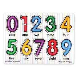 See-Inside Numbers Peg Puzzle By Melissa & Doug