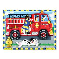 Fire Truck Chunky Puzzle By Melissa & Doug