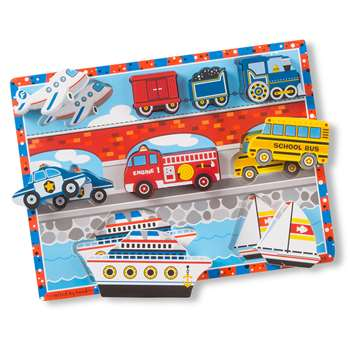 Vehicles Chunky Puzzle By Melissa & Doug