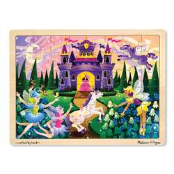 Fairy Fantasy Jigsaw Puzzle (Wooden 48 Pieces) By Melissa & Doug