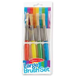 Large Paint Brushes Set Of 4 By Melissa & Doug