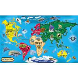 Floor Puzzle World Map By Melissa & Doug