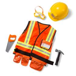 Role Play Construction Worker Costume Set By Melissa & Doug